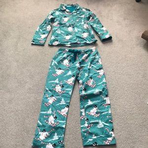 Nick and Nora Flannel Snowman Pajama Set